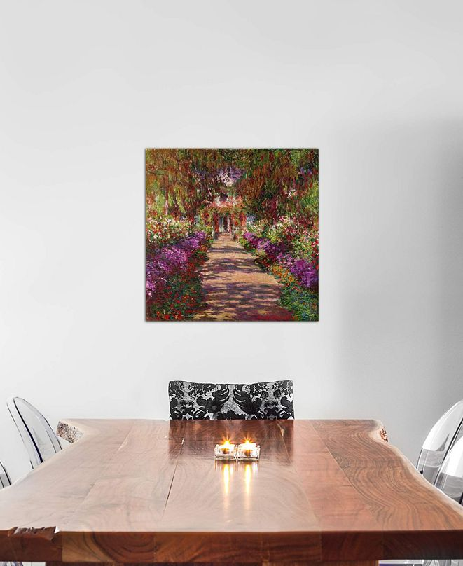 "iCanvas ""A Pathway in Monet's Garden, Giverny, 1902"" by Claude Monet Gallery-Wrapped Canvas Print (26 x 26 x 0.75)"