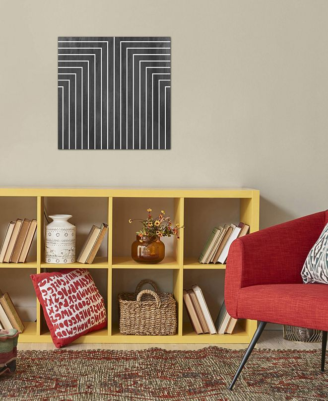 """iCanvas """"Mid Century Modern Art- Geometric Pattern 90"""" by 5by5collective Gallery-Wrapped Canvas Print (18 x 18 x 0.75)"""