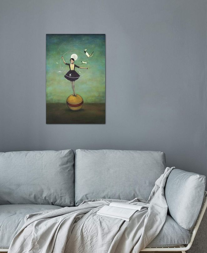 """iCanvas """"Luna's Circle"""" by Duy Huynh Gallery-Wrapped Canvas Print (40 x 26 x 0.75)"""