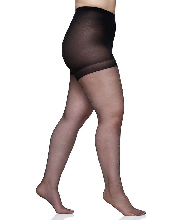 Berkshire - Queen Plus Size Shimmers Ultra Sheer Control Top Pantyhose 4412