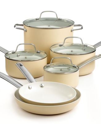 Martha Stewart Collection Ceramic Cookware, 10 Piece Set