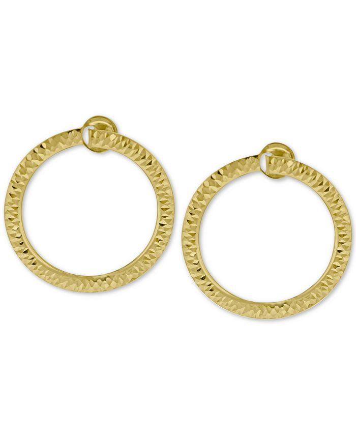 Macy's - Doorknocker Circle Drop Earrings in 14k Gold