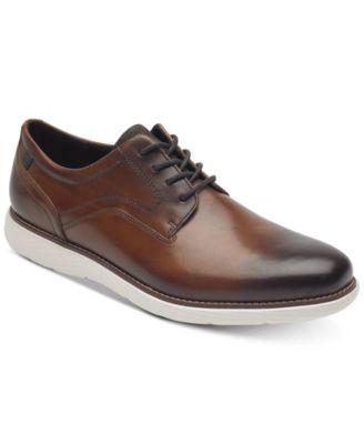 Garett Leather Plain-Toe Oxfords