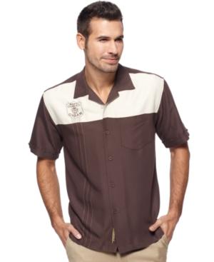 Cubavera Shirt, Color Blocked Cigar Shirt