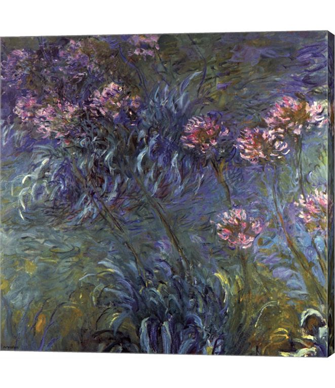 Metaverse Jewelry Lilies by Claude Monet Canvas Art