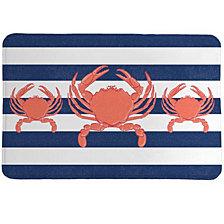 Crab Stripe Memory Foam Rug