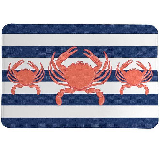 Laural Home Crab Stripe Memory Foam Rug