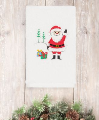 CLOSEOUT!  Christmas Santa Waving 100% Turkish Cotton Hand Towel