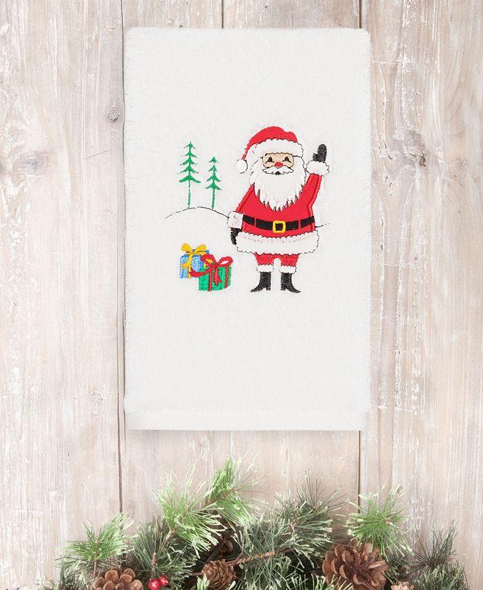 Linum Home - Christmas Santa Waving 100% Turkish Cotton Hand Towel