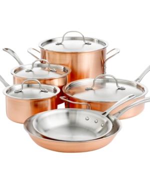 Calphalon Tri Ply Copper Cookware, 10 Piece Set