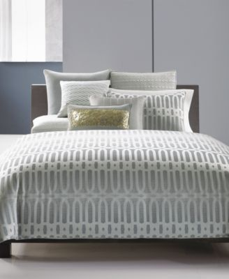 Hotel Collection Long Links Quilted Queen Coverlet