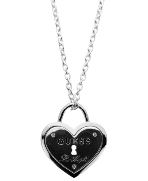 GUESS Necklace, Heart Logo Pendant