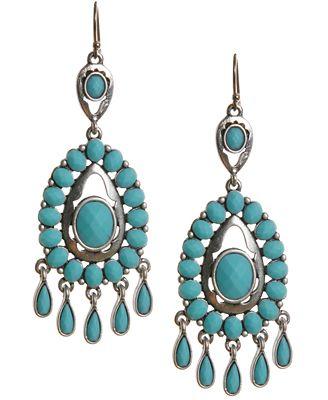 Lucky brand earrings turquoise epoxy chandelier earrings for Macy s lucky brand jewelry