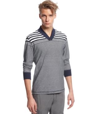 Bar III Shirt, Miller Long Sleeve Stripe T Shirt