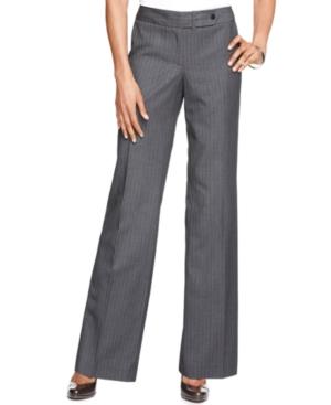 Calvin Klein Pants, Wide Leg Pinstriped
