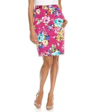 Charter Club Skirt, Floral Printed Pencil