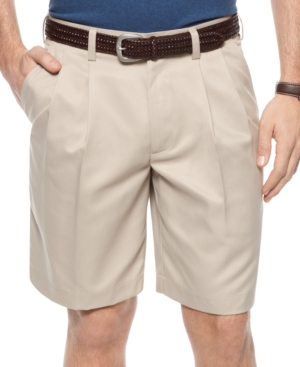 Izod Shorts, Lightweight Double Pleat Shorts