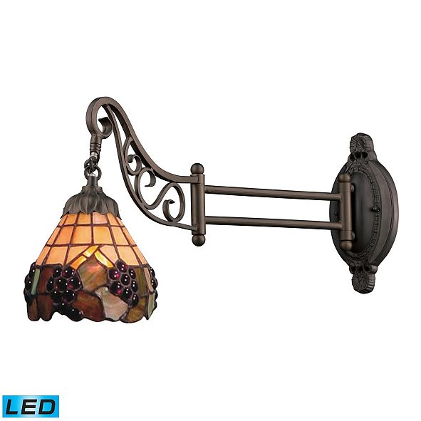 ELK Lighting Mix-N-Match 1-Light Swingarm Sconce in Tiffany Bronze - LED Offering Up To 800 Lumens (60 Watt Equivalent)