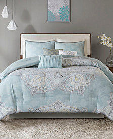 Madison Park Lucinda Cotton Reversible 7-Pc. Queen Comforter Set