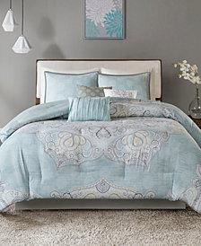 Madison Park Lucinda Cotton Reversible 7-Pc. King Comforter Set
