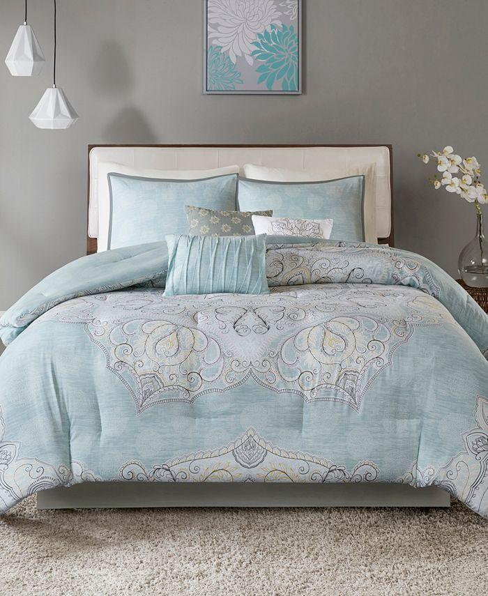 Madison Park - Lucinda Cotton Reversible 7-Pc. California King Comforter Set