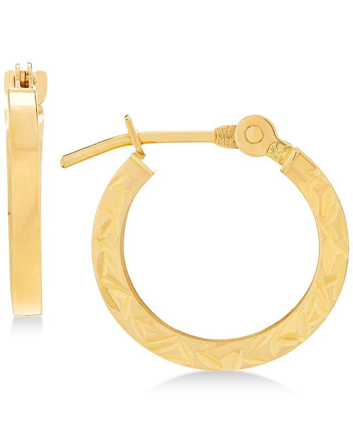 Macy's - Children's Textured Hoop Earrings in 14k Gold