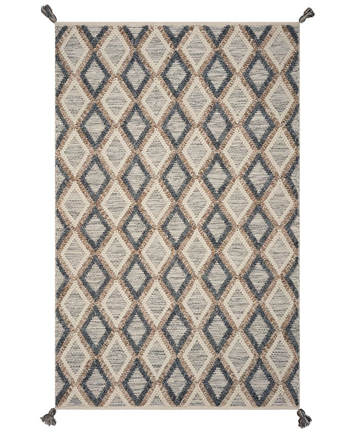 Hang Ten - Malibu Newport Beach 850 Slate/Beige 6' x 9' Area Rug