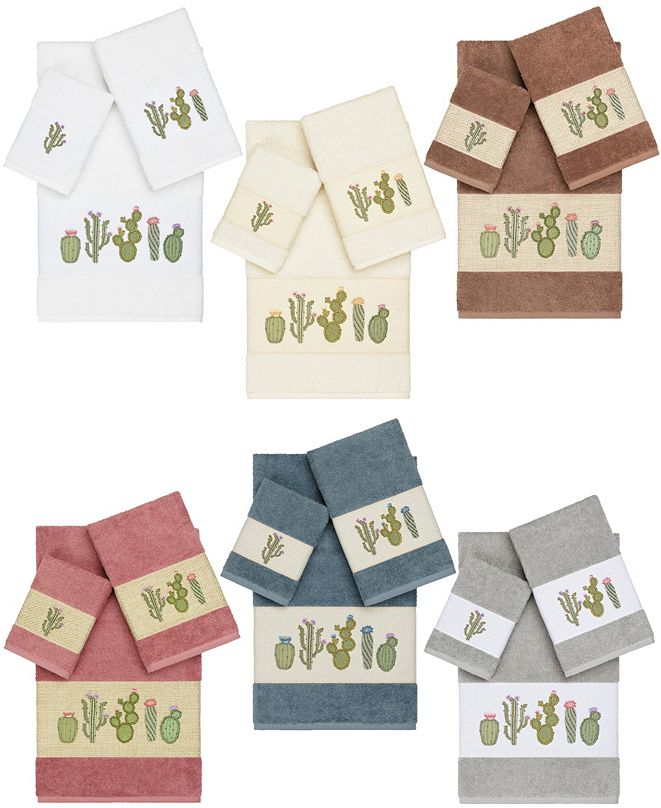 Linum Home Mila Embroidered Turkish Cotton Bath Towels