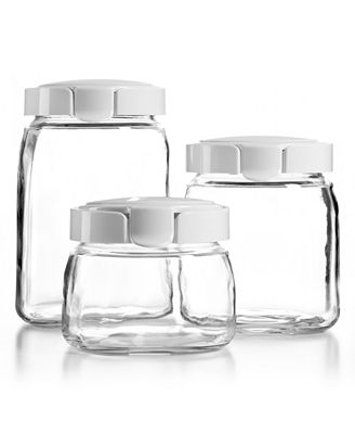 Stewart Kitchen Canisters   martha stewart collection glass canisters set of 3