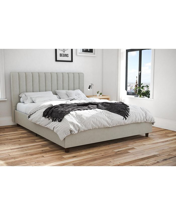 Novogratz Collection - Brittany Upholstered Bed in Gray