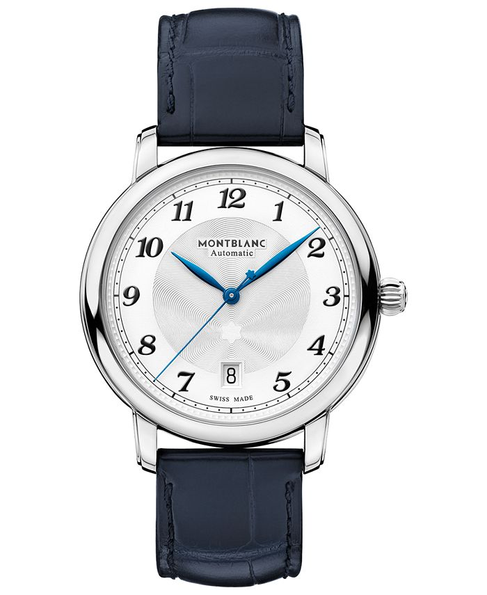 Montblanc - Men's Swiss Automatic Star Legacy Blue Alligator Leather Strap Watch 39mm