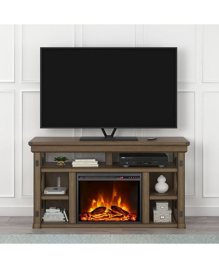 Ameriwood Home - Broadmore 60 Inch Fireplace TV Stand