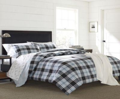 Lewis Plaid Atlantic Full/Queen Comforter Set