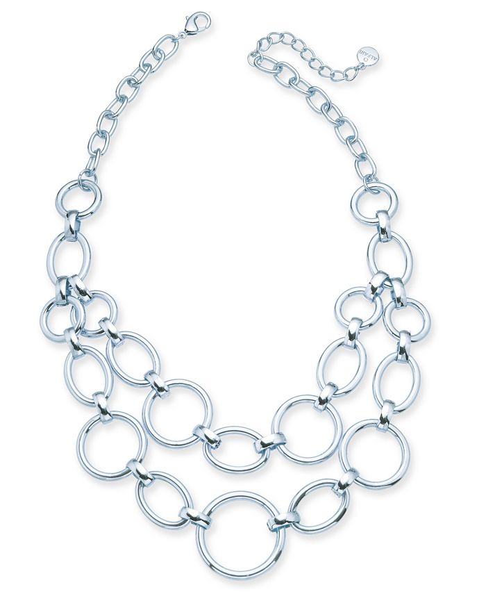 "Alfani - Large Link Statement Necklace, 17"" + 2"" extender"