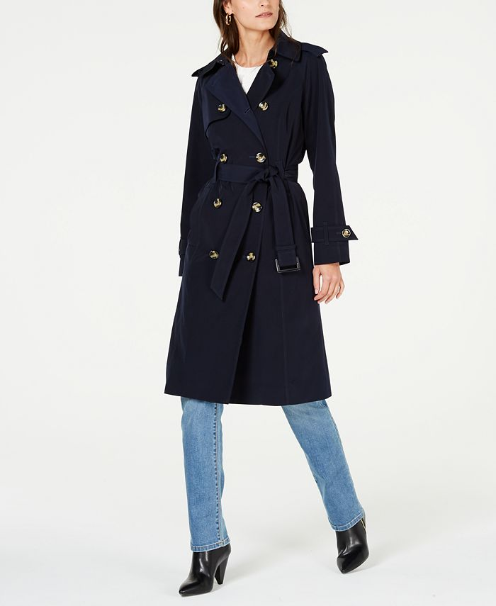 London Fog - Belted Double-Breasted Trench Coat