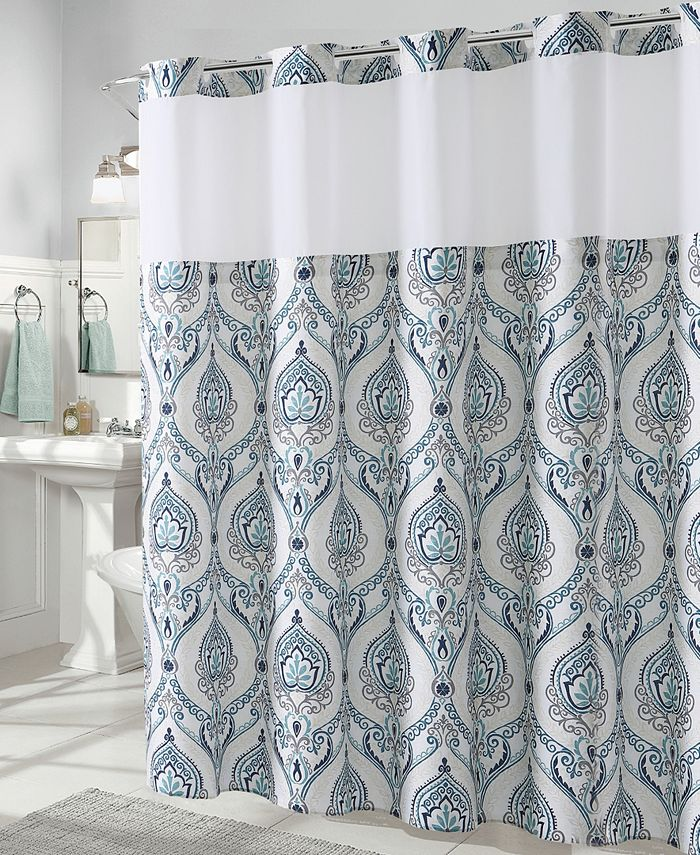 Hookless - French Damask Print 3-in-1 Shower Curtain