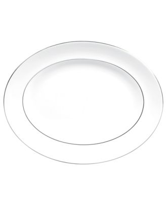 Vera Wang Wedgwood Dinnerware, Blanc sur Blanc Medium Oval Platter