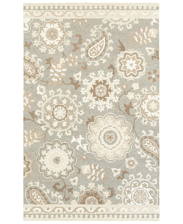 Oriental Weavers Craft 93003 Gray/Sand 8' x 10' Area Rug