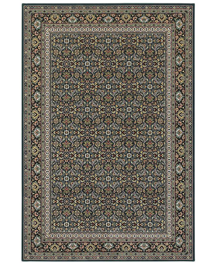 """Oriental Weavers - Kashan 180L Navy/Multi 7'10"""" x 10'10"""" Area Rug"""
