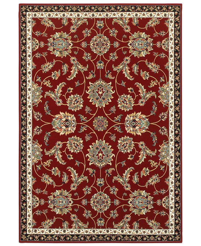 """Oriental Weavers - Kashan 370R Red/Multi 9'10"""" x 12'10"""" Area Rug"""