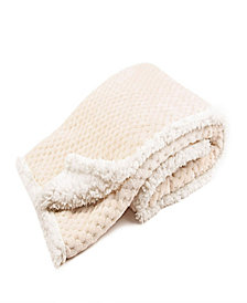 Tadpoles Popcorn Plush Sherpa Lined Baby Blanket