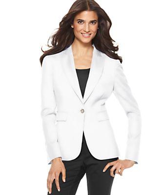 Jones New York Jacket, Long Sleeve One Button Blazer