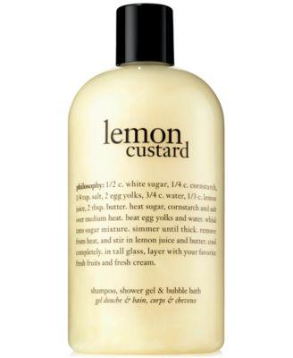 Lemon Custard Shower Gel, 16 oz