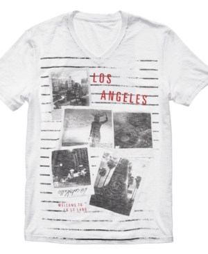 Bar III T Shirt, LA Stripes T Shirt