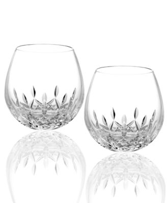 Waterford Stemware, Lismore Nouveau Stemless Light Red Wine Glasses, Set of 2