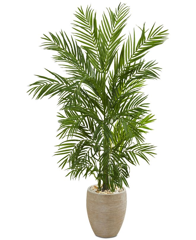 Nearly Natural 5' Areca Palm Artificial Tree in Sand-Colored Planter