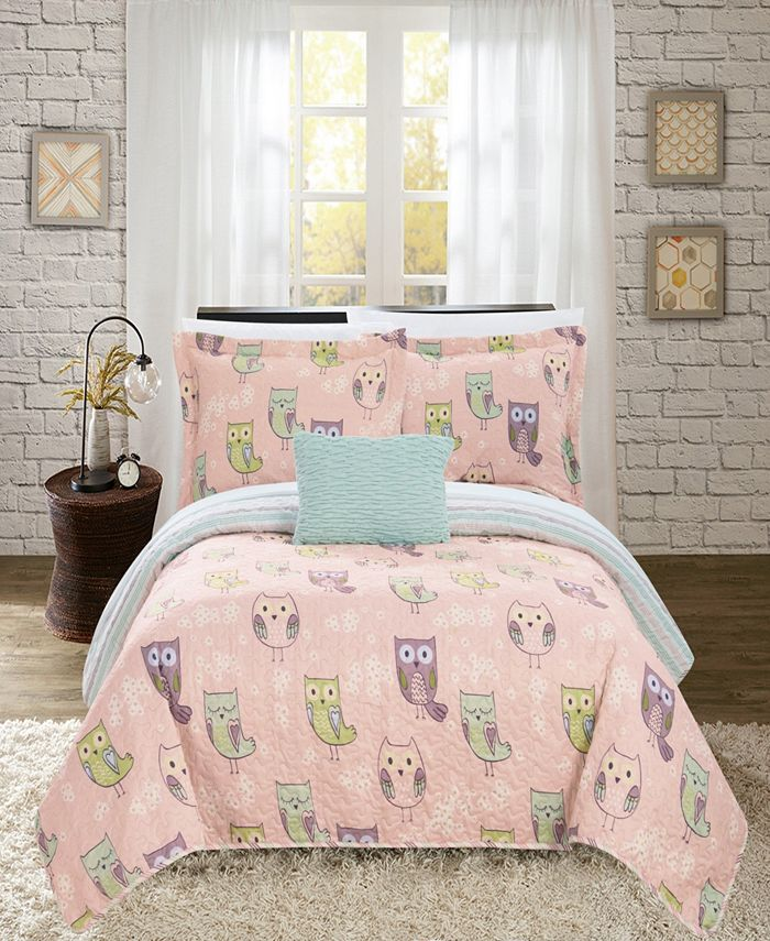 Chic Home - Owl Farm 4-Pc. Quilt Sets