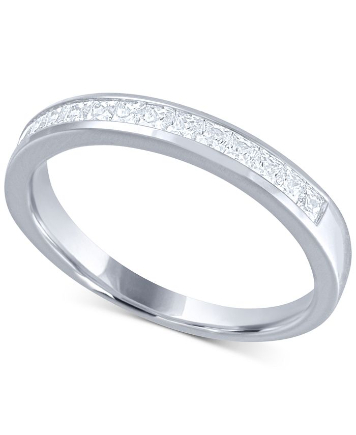 Macy's - Diamond (1/2 ct. t.w.) Channel Band in 14k White Gold