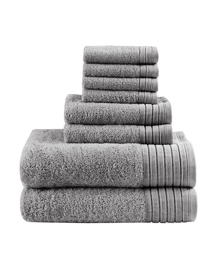 Madison Park - Signature Mirage Solid 100% Cotton 8-Pc. Towel Set