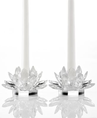 Lighting by Design Candle Holders, Set of 2 Lotus Candlesticks